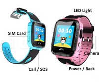 Wholesale Baby Swim Pink - IP67 Waterproof V6G Smart Watch GPS Tracker Monitor SOS Call with Camera Lighting Baby Swimming Smartwatch for Kids Child