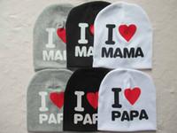 Wholesale I Love Mama Colors - Lovely Cute baby beanie hat cap for boy girl many colors i love mama i love papa