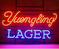 ücretsiz neon bira işareti toptan satış-Yeni Yuengling Lager Neon Burcu El Işi Özel Gerçek Cam Neon Beer Bar Pub Kulübü KTV Reklam Dsiplay Neon İşaretler Ücretsiz Tasarım 17