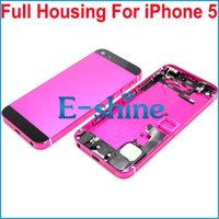 Wholesale Iphone5 Housing Assembly - 5G Full Back Housing Assembly Replacement Metal Middle Frame Battery Door Cover with Repair Parts Cable For iPhone5 5th