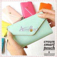Wholesale More Cards - Coin Purses More beautiful Crown Smart Pouch Multi propose envelope Purse Wallet For Galaxy S2,S3,iphone