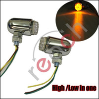 Wholesale Led Rear Turning Motorcycle Light - Pair Front Rear Motorcycle Turn Signal Led Light Bright Lamp Fits for HARLEY