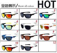 espelhos de bicicleta venda por atacado-RÁPIDO LIVRE esportes óculos Bicicleta Vidro 11 cores grandes óculos de sol esportes ciclismo óculos de sol moda deslumbrar espelhos de cor 9135