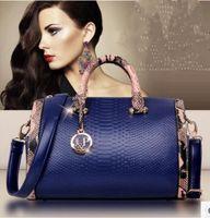 Wholesale Cheap Solid Real - New fashion women Handbags cheap real snakeskin Pu leather bag leather Handbag classicBolsas Femininas Messenger bag Shoulder bag
