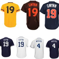 Wholesale Wil Myers - Man jersey #19 Tony Gwynn #4 Wil Myers jerseys Embroidery Logos High-quality Fast Free Shipping wholesale