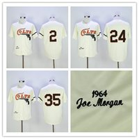 Wholesale Red Foxes - Houston Colts Throwback Baseball Jersey Retro 35 Joe Morgan 2 Nellie Fox 24 Jimmy Wynn Vintage 1964 Turn Back Stitched Jersey Free Shipping