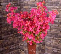 "Wholesale Bougainvillea Flowers - Silk Bougainvillea 120cm 47.24"" Length Artificial Flowers Bougainvilleas Spectabilis Willd Wintersweet Plum Blossom for Wedding Flower"