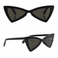 Wholesale heart sunglasses for sale - SL207 Sunglasses Fashion Women Brand Heart Full Frame Model UV400 Lens Summer Style Adumbral Butterfly black White Red Color With Case