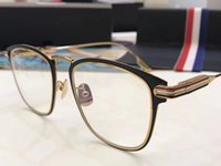 Wholesale Top Brand Optical Glass Frame - Luxury Fashion Women Brand Designer Popular TB 909 Glasses Optical Lens Square Full Frame Black Tortoise Brown Top Quality