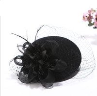 Wholesale Wedding Favor Hats - New Fashion lady homburg hat Autumn Winter Elegant woman bucket hats Fashion Ladies Bride Wedding Favor Church Fedoras Wool Felt Hat HT42