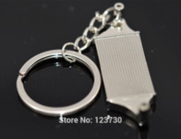 Wholesale Auto Radiator Parts - Free shipping Creative radiator keychain Intercooler Auto Parts Accessories Key Chain Ring Key Fob Keyring Key Chains
