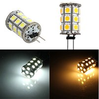 Wholesale Led Bulb Warm White 27 - New Pure  Warm White G4 27 led 5050 SMD mini LED Car Reading Lamp Bulb Spotlight Light DC12V