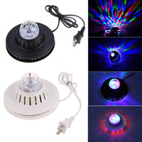Wholesale Home Moving - 2015 Crystal Moving Head RGB Color Auto Rotating Changing UFO Sunflower LED Light Home Party Stage KTV Disco Dancing Bar DJ Club