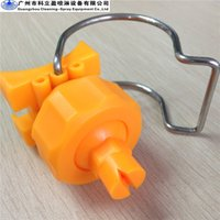 Wholesale Flat Nozzles - Adjustable ball flat spray clip-eyelet clamp spray nozzle, 10 pcs per lot, free shipping