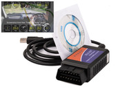 Carro diagnóstico ferramenta ELM327 USB Adapter versão V1.5 apoio Auto OBD com CD Software interface CAN-BUS Scanner YA069-SZ