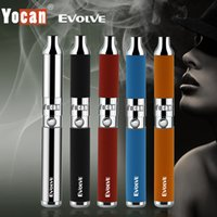 Wholesale Dual Cigarette Starter Kit Ego - Authentic Yocan Evolve Wax Vaporizer Herbal Starter Kit 650mah eGo Thread Quartz Dual Coils dry herb e cigs cigarettes vapor Pen v Xvape DHL