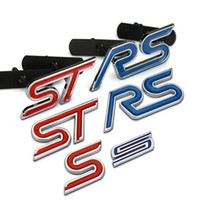 Wholesale Focus Rs - S ST RS Chrome Metal Refitting Styling Car Emblem Badge Auto Exterior Decal 3D Sticker Grille Emblem for FORD Focus Mondeo