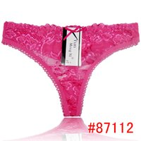 Wholesale See Through String Thongs - Promotion Sexy Princess lace thong transparent lace g-string sexy lady panties women underwear see-through t-back hot lingerie intimate pant