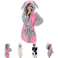 Wholesale Thick Warm Sleepwear - Winter Homewear Robe Women Thick Warm Sleepwear Long Sleeves Cartoon Bathrobe Female Robes Asia Size M,L JB0099 Kevinstyle