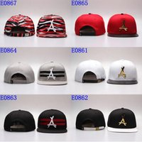 "Wholesale Kids Cool Caps - Wholesale COOL ! New arrival gold ""A"" strapback hat Hats Nice Snap backs kids Adjustable Strapbacks HIP HOP Steetwear Hat Cap men"
