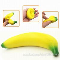 Wholesale banana phones - Banana Squishy Imitation Fidget Toy Squishies Squeeze Gift Fragrance Scented Jumbo Lively Decoration Phone Strap Free Shipping SQU010