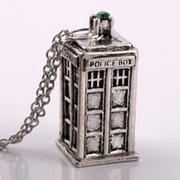Wholesale Dr Charms - Doctor Who Classic Antique silver gold and white necklace pendants New European American jewelry mysterious Dr. TRADIS Necklaces 2016 New