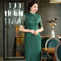 Wholesale Cheongsam Dress Hot - Shanghai Story high-grade long cheongsam Silk chinese cheongsam qipao dress chinese traditional clothing oriental dresses hot sale