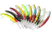 Wholesale Deep Minnow - New 15.6CM 15.8G #2 HOOK Big Minnow Artificial Plastic Deep Diver Hard Lures Sea fishing lures big Saltwater bait
