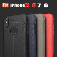 Wholesale Free Envelopes - New Lycra Interlock Stitching Leather For iPhoneX 8 plus Case 7P Business Full Envelope with Retail Package Free Shipping