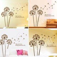 Wholesale Wall Stickers Tree Wind - Removable Dandelion Flower Tree in the Wind Wall Sticker Art Mural Wall Mew