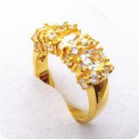 gelbgold saphir ring großhandel-Hohe Qualität EXQUISITE 3.0CT NATURAL SAPPHIRE 14KT GELB GOLD GEMSTONE RING -Y07