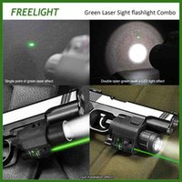 Tactical 532nm Green Laser Sight Scope Green Pistol Laser Sight con linterna de LED de alta potencia para pistola glock