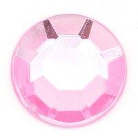 "Wholesale Acrylic Embellishments - 300 PCs Acrylic Embellishments Findings Faceted Round Pink 10mm( 3 8"") Dia."