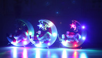 Wholesale Wholesale Music Store - Christmas tree Decorative Store ornaments Glowing Snow moon Pendant small Santa Claus have music DIY Party Party Supplie 3 color wholesale