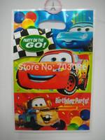Wholesale Plastic Loot Bags - Wholesale- cars party loot bag,plastic gift bag,children kids candy bag