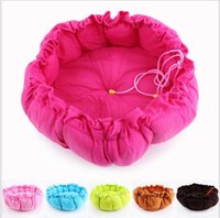 Wholesale large small round pet puppy dog cat soft pet beds sleeping bag warm dog pet bed in colors high quality factory price