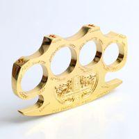 Wholesale pcs brass knuckle online - 1 Hell detective Steel Brass Knuckle dusters Self defense