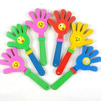 Wholesale Sound Device For Toys - Wholesale-Wholesale 27cm colorful small Plastic Clap For Palm Shoot Toy Clap Hands Device for Festival Party sound toys Free Shipping