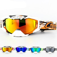 Wholesale atv skis - 2018 New Cycling Sunglasses Motorcycle Goggles Ski Eyewear Women Men Motocross ATV Quad Off-road Windproof Goggles Glasses MX