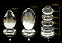 Wholesale Sale Dildos Free Shipping - Hot sale large transparent crystal glass anal plug sex toys for men and women Free Shipping