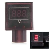Wholesale Voltmeter 36v - Mini Portable DC 30V-100V LED Digital Car Vehicle Voltmeter Volt Meter Gauge Suitable for 36v   48v   60v   72v   84v