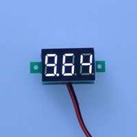 Freeshipping 20PCS / lot Großverkauf !! Weiß Led-display farbe DC3-30V auto digitale volt spannung panel meter auto voltmeter batterie monitor