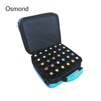 Wholesale Dark Green Bottles Wholesale - Wholesale- 2017 New Fashion 42 Bottles Essential Oil Carrying Case make up Bag Storage For Traveling Sturdy Double Zipper Cosmetic Bag