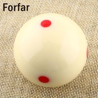 Atacado- Forfar High Quality 57.2mm Red Dots Billiard Snooker Mesa Treinamento Criss Cue Ball 1/4