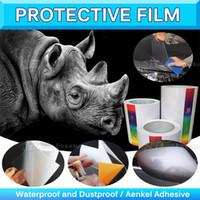 Wholesale Bra Materials - Rhinoceros Paint Protection Vinyl Wrap Clear Car Bra Bumper Hood Paint Protection Film 0.1x30m 0.15x30m 0.2x30m