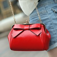 Wholesale Big Discount Bags - Wholesale-Discount 2015 Time-limited Real Bolsa new Arrival Color Mini Bag Fling Chain Big Bow Shoulder Bags Woman Messenger Free Shipping