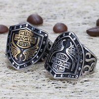 Wholesale Motorcycle Accessories China - Retro men's stainless steel ring, motorcycle team, jewelry accessories, Davidson ring