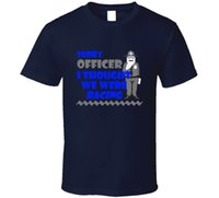 2017 mode 100% Baumwolle Slim Fit Top Sorry Officer Racer Lustige Polizei Geändert Autos Fan T-shirt