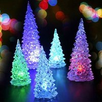 Wholesale Christmas Tree Lights Cheap - Cheap New Product Christmas Halloween Tree Ornament Colorful Mini Changing LED night light lamp Decoration Kids Gift with retail box