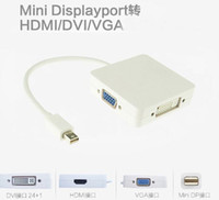 Wholesale mini dvi vga adapter apple for sale - Group buy 3 in Mini DP DisplayPort To VGA HDMI DVI Cable Adapter Converter for Apple MacBook Pro Air mini iMac